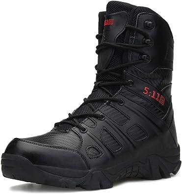 MERRYHE Botas Militares De Cordones con Cordones Botas Tácticas Especiales De Seguridad para Hombres Botas Tácticas De Policía para Escalar Zapatos De ...