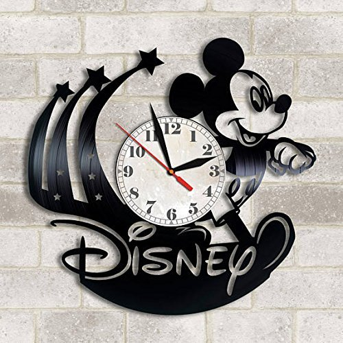 Handmade Vinyl Wall Clock Walt Disney vinyl clock, Walt Disney decor Walt Disney World Walt Disney Christmas gift Walt Disney Mickey Mouse Walt Disney fan gift Walt