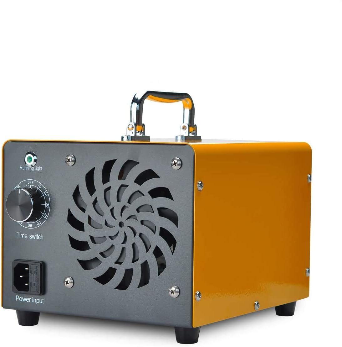 Generador de ozono Podazz 15000mg // h 120W mantas utilizado para ropa desodorante de sala de ionizaci/ón de aire dom/éstico de m/áquina O3 negro, 15000mg // h gabinetes mascotas