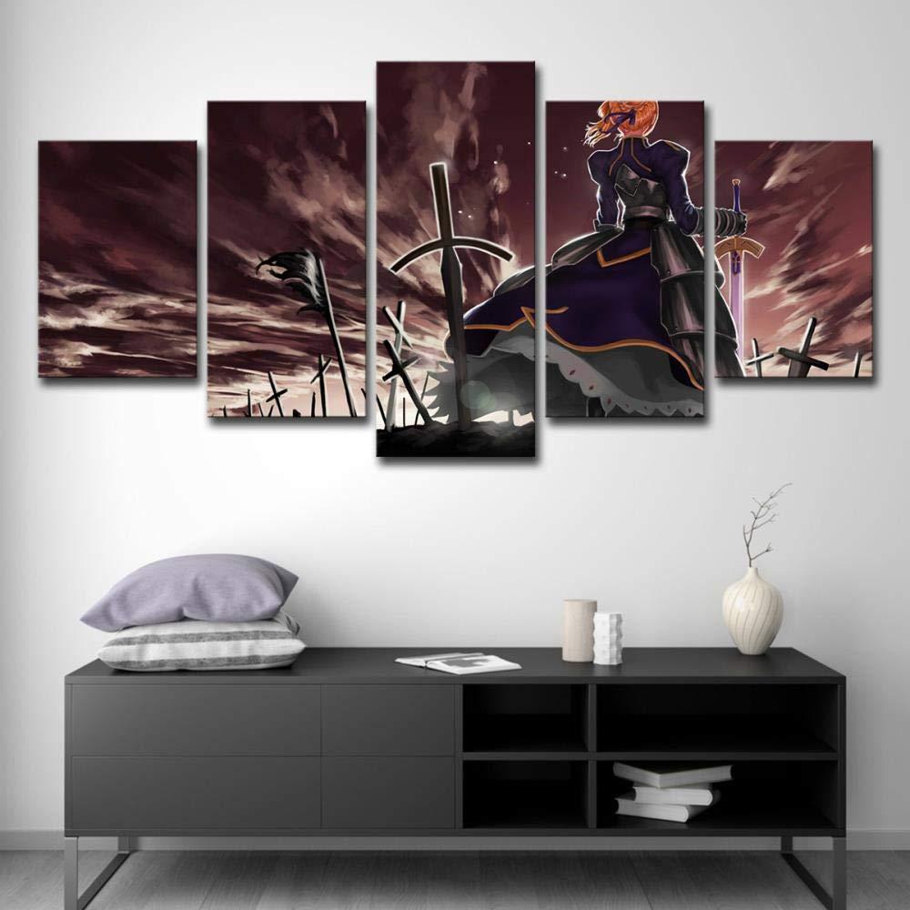 WJY YB 5 Paneles de Arte en la Pared mi Rey Alto Liya hogar ...
