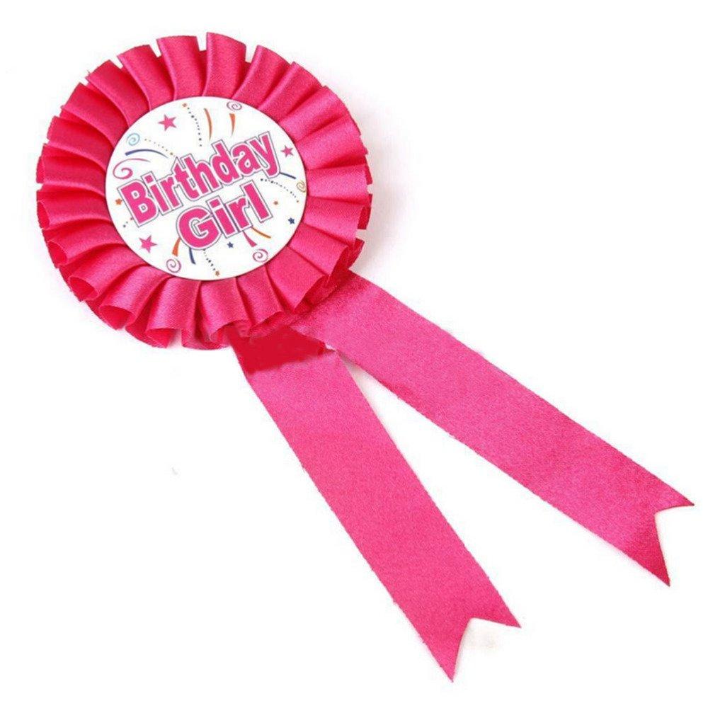 Nuevo color de rosa del chica del cumpleaños de impresión de ...