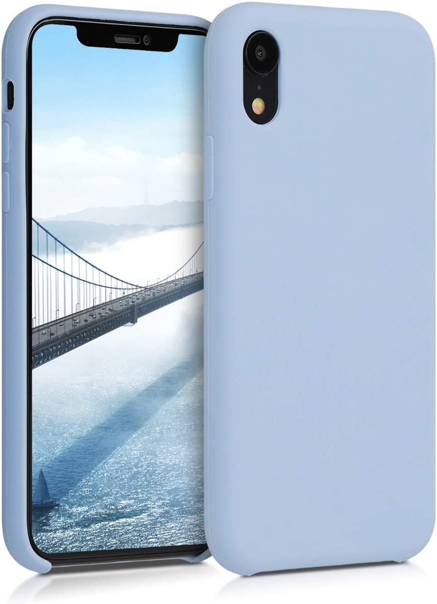 kwmobile TPU Silicone Case Compatible with Apple iPhone XR - Soft Flexible Rubber Protective Cover - Light Blue Matte