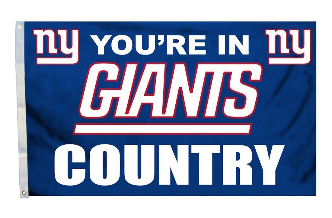 NFL New York Giants 3-by-5 Foot ''In Country'' Flag