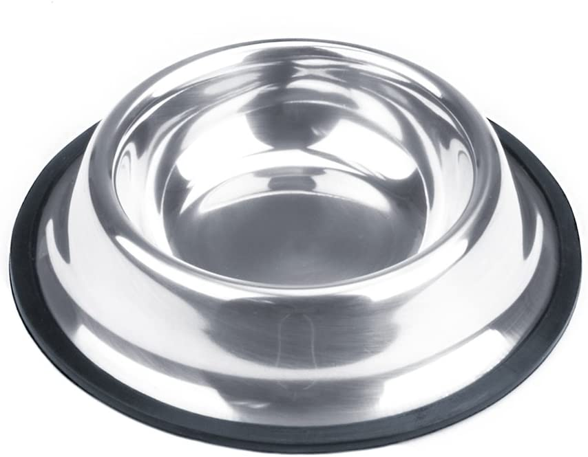 Weebo Pets Stainless Steel No-Tip Food Bowls - Choose Your Size, 4-Ounce to 72-Ounce (4oz. Toy)