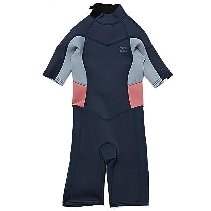 1ac7a6f88b Billabong 2mm 2018 Synergy Short Sleeve Back Zip Shorty Wetsuit Age 9-10  Slate