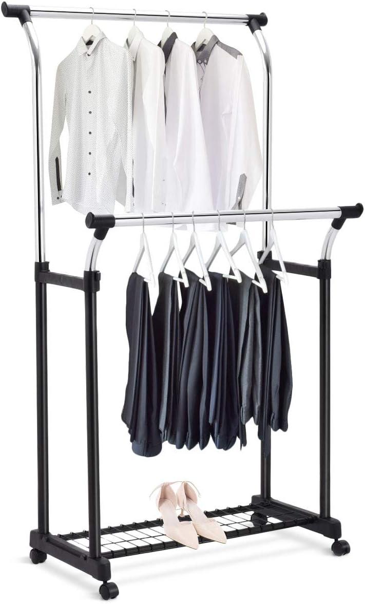 Rollgarderobe Kleiderständer Wäscheständer Garderobenständer Höhenverstellbar