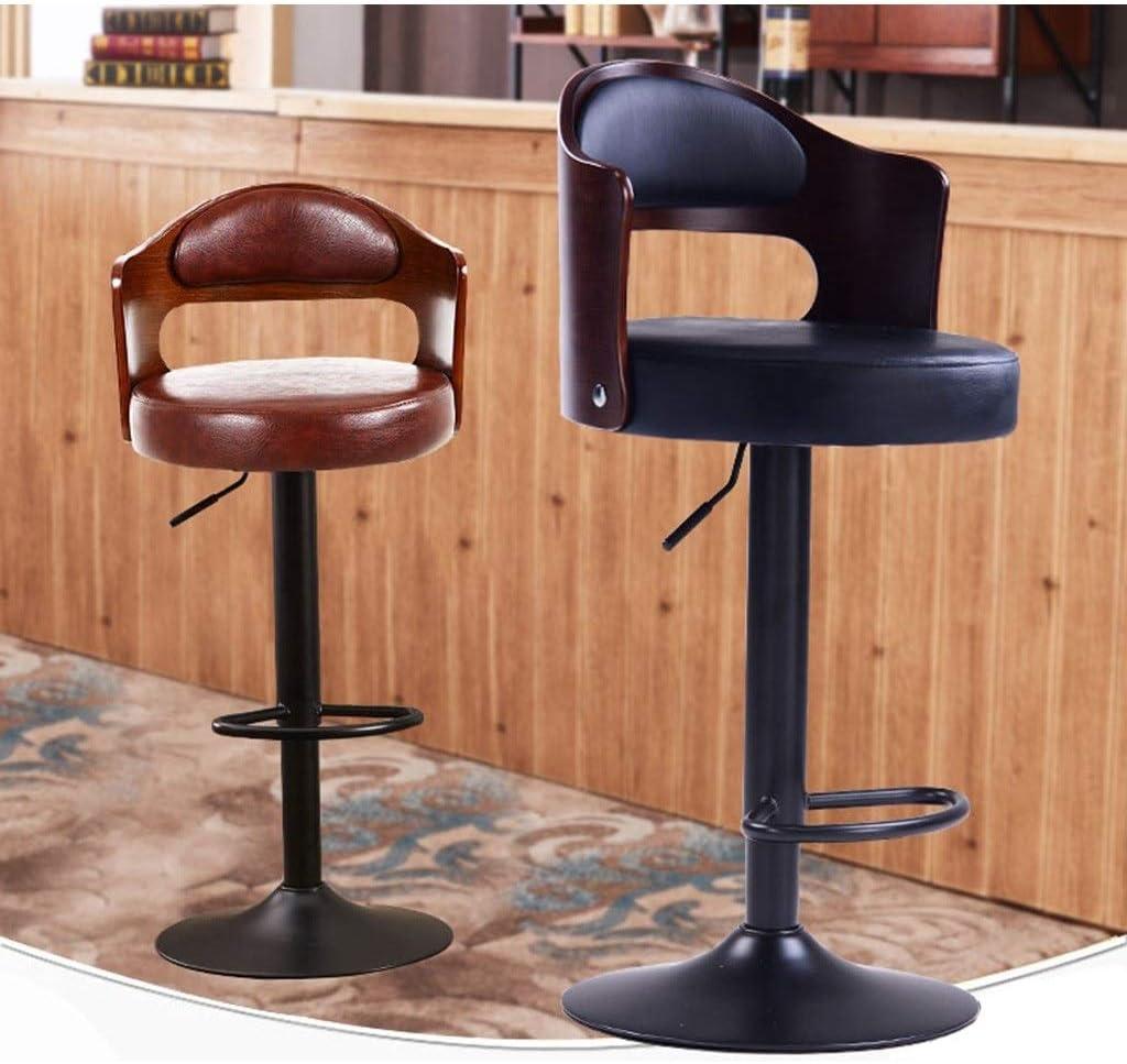 SZQ-Barkrukken Hefbare Bar Stoel, Home Gebruik Office Chair Zaken Hall Lounge Chair Hotel PU/Retro Doek Barkrukken Lengte: 60-80cm Barkruk (Color : #6) #8