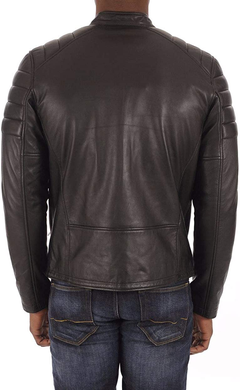 Mens Leather Jackets Motorcycle Bomber Biker Genuine Lambskin 268