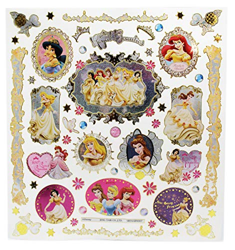Stickers Disney Princess Sparkly Portraits Assorted Designs Sheet ()