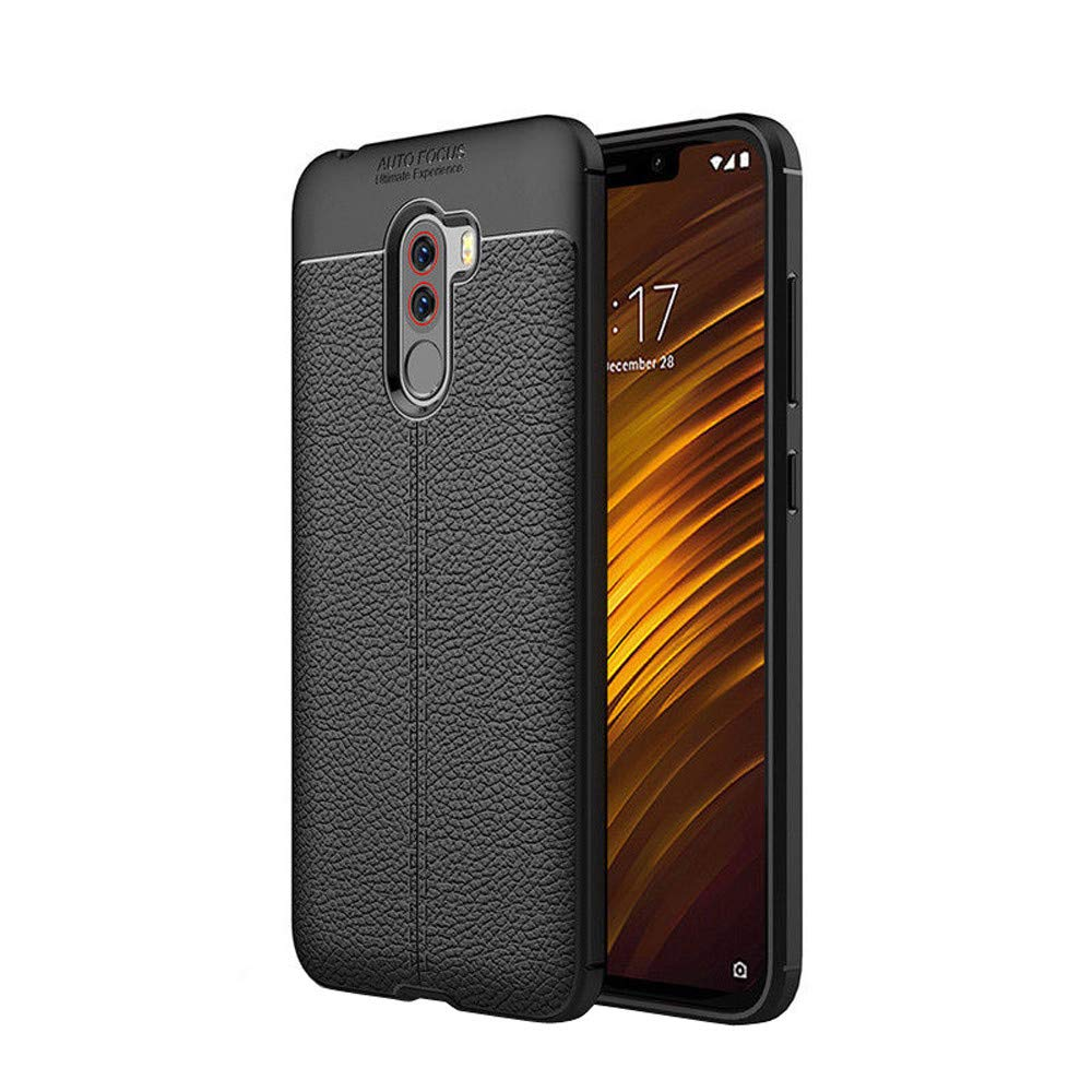 Shell Case for Xiaomi Poco Phone Luxury Ultra-Thin Flexible Protective Case Cover for Xiaomi Poco Phone 6.18 inch (Black)