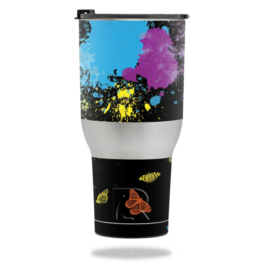 MightySkins Skin for RTIC Tumbler 40 oz. (2017) - Splatter | Protective, Durable, and Unique Vinyl Decal wrap Cover | Easy to Apply, Remove, and Change Styles | Made in The USA