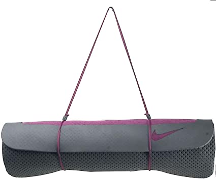 Amazon Com Nike Ultimate Pilates Mat 8mm Mulberry Anthracite Yoga Exercise Mat Exercise Mats Sports Outdoors