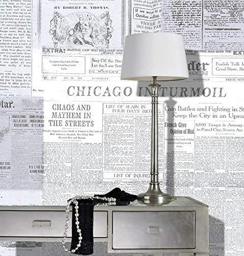 color blanco y negro Gaceta de papel pintado para pared dise/ño vintage de peri/ódicos