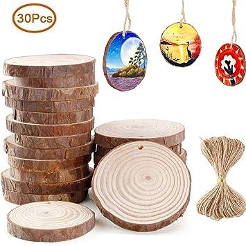 Holzscheiben Zum Basteln 30 Stuck Baumscheiben Natur Diy