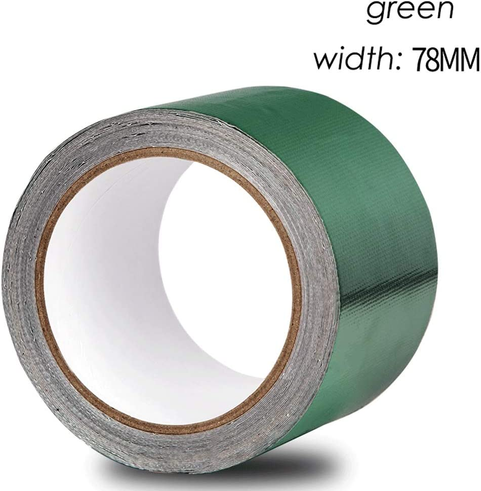 Color : Blue, Size : 48 mm Wide x 8 m Long Self Adhesive Repair Tape Kit Canvas Crepe Waterproof Cloth Three Anti-Clothing Waterproof Tape Plastic Pe Woven Bag Blue Green Tarpaulin Repair Tape