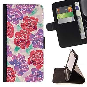 Momo Phone Case / Flip Funda de Cuero Case Cover - Floral Silk Art Design Printemps - Samsung Galaxy S4 Mini i9190