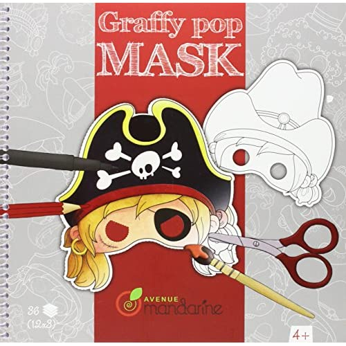 Avenue Mandarine Carnet de coloriage et masques - Graffy Pop Mask : Garçons