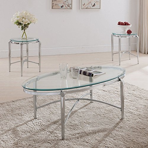 K & B Furniture T472 3 Piece Cocktail and End Table Set