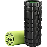 REEHUT Foam Roller, High Density Muscle Roller, Trigger Point Massage for Physical Therapy & Exercise, with Free Carrying CASE!