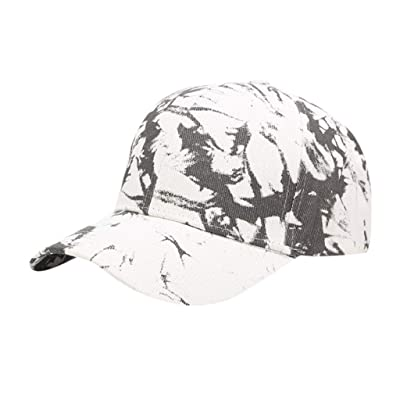 Sttech1 Womens Tie Dye Printed Baseball Cap Peaked Cap Sun Hat Sun Beach Hat Black: Clothing