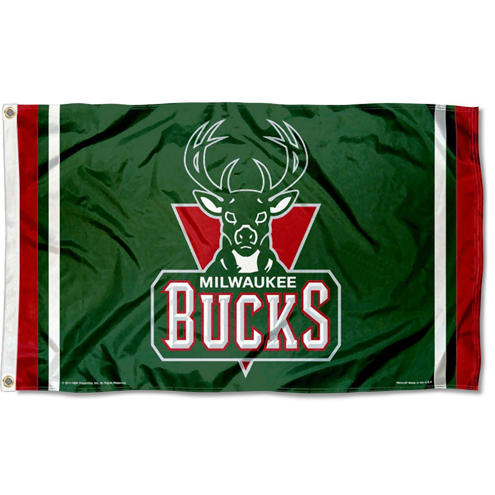 WinCraft NBA Milwaukee Bucks 3x5 Flag