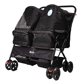 Pet trolley NAUY- Silla de Paseo para Mascotas, Plegable de Lado a Lado,