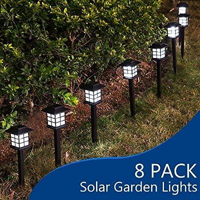 YUNLIGHTS Garden Solar Stake Lights Outdoor Solar Pathway Lights