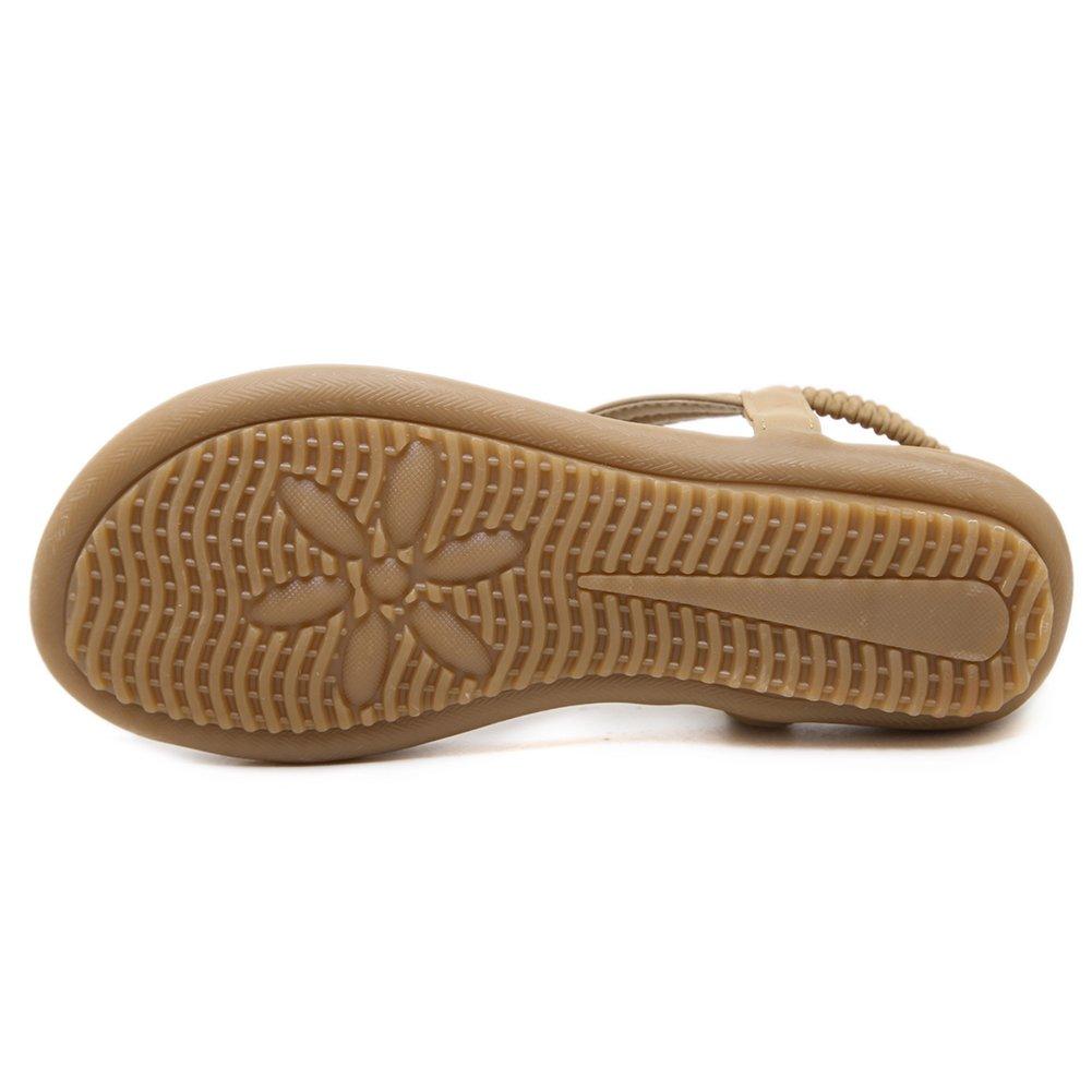 SANMIO Women Summer Flat Sandals Shoes,Bohemian T Strap Prime Thong Shoes Flip Flop Shoes by SANMIO (Image #5)