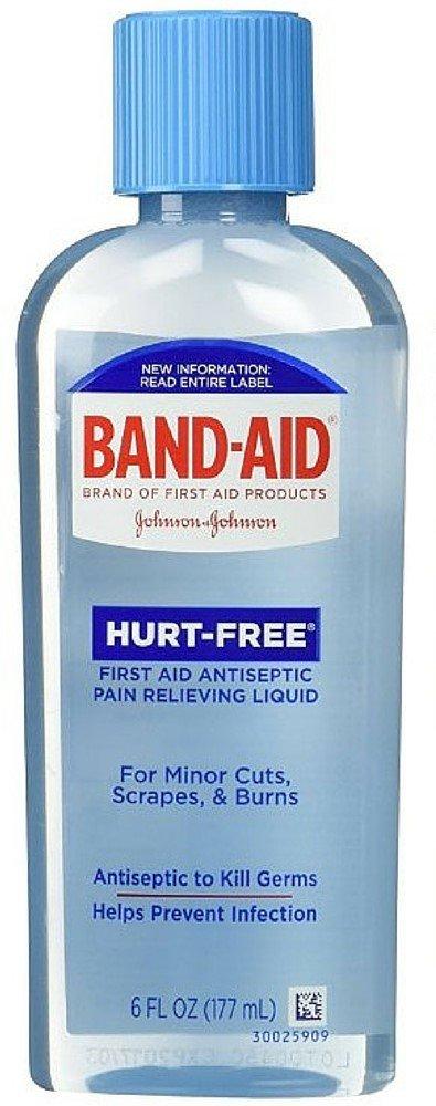 BAND-AID Hurt-Free Antiseptic Wash 6 oz (10 Pack) by Pharmapacks