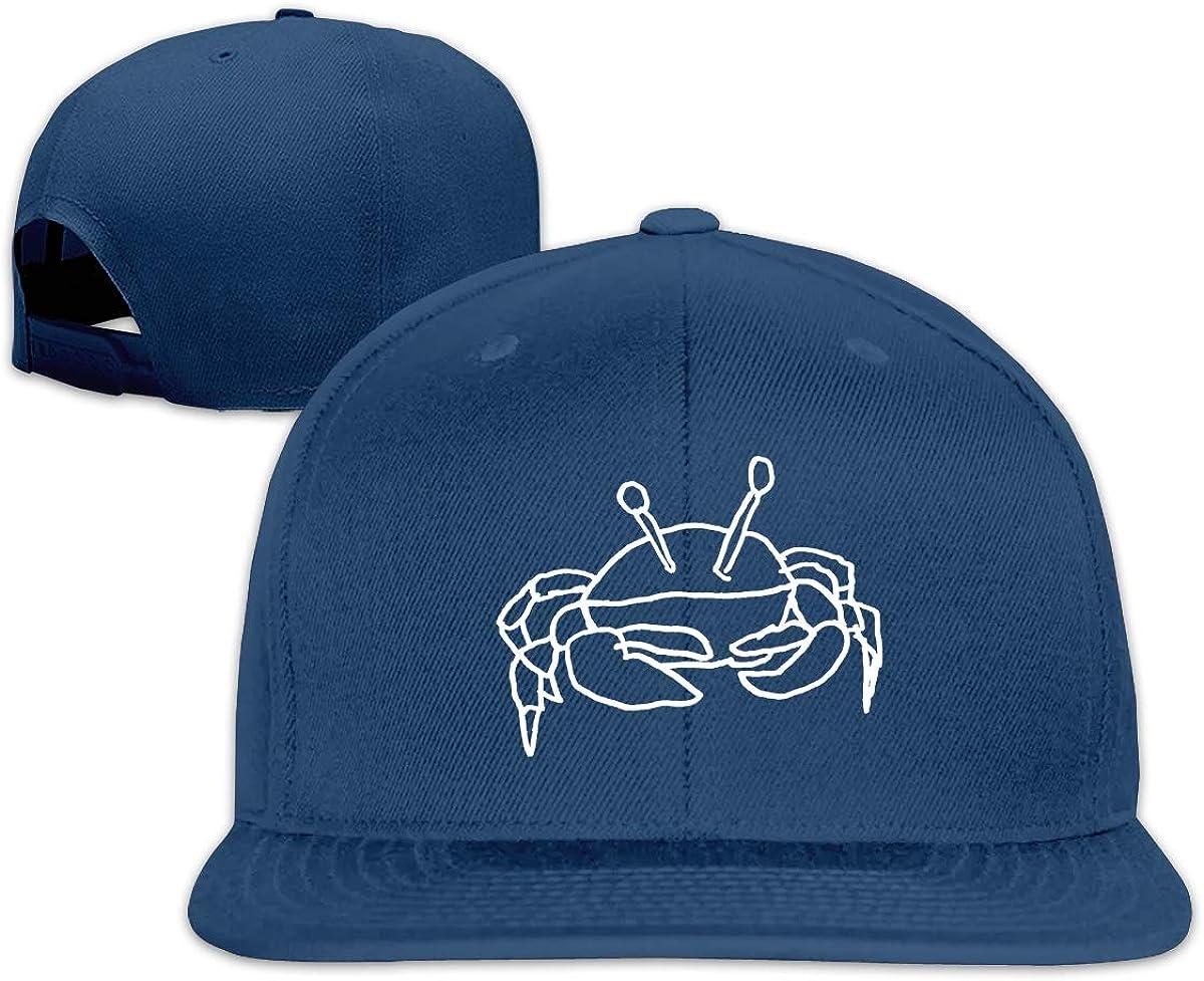 Crab Unisex Adult Hats Classic Baseball Caps Sports Hat Peaked Cap Navy