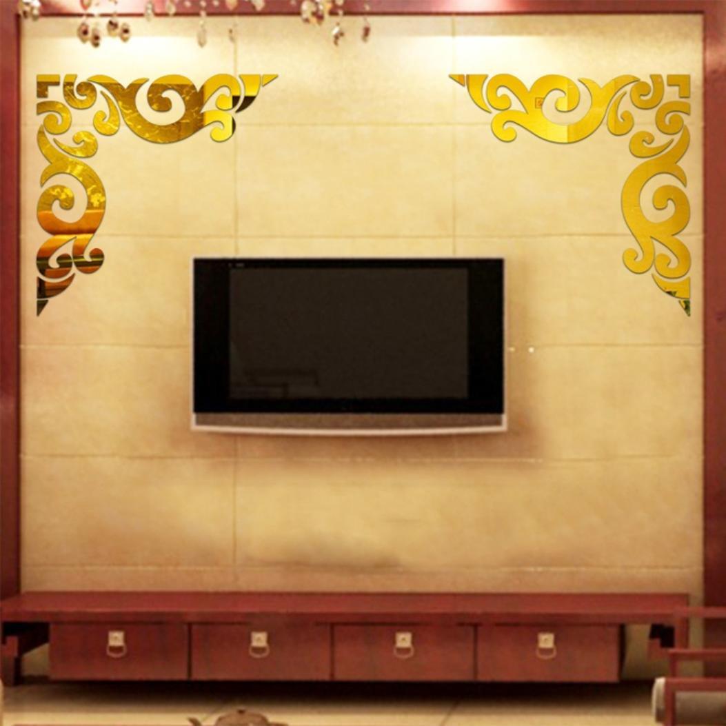 Amazon.com: Iuhan® Fashion Diagonal Corner Line Acrylic Mirror ...