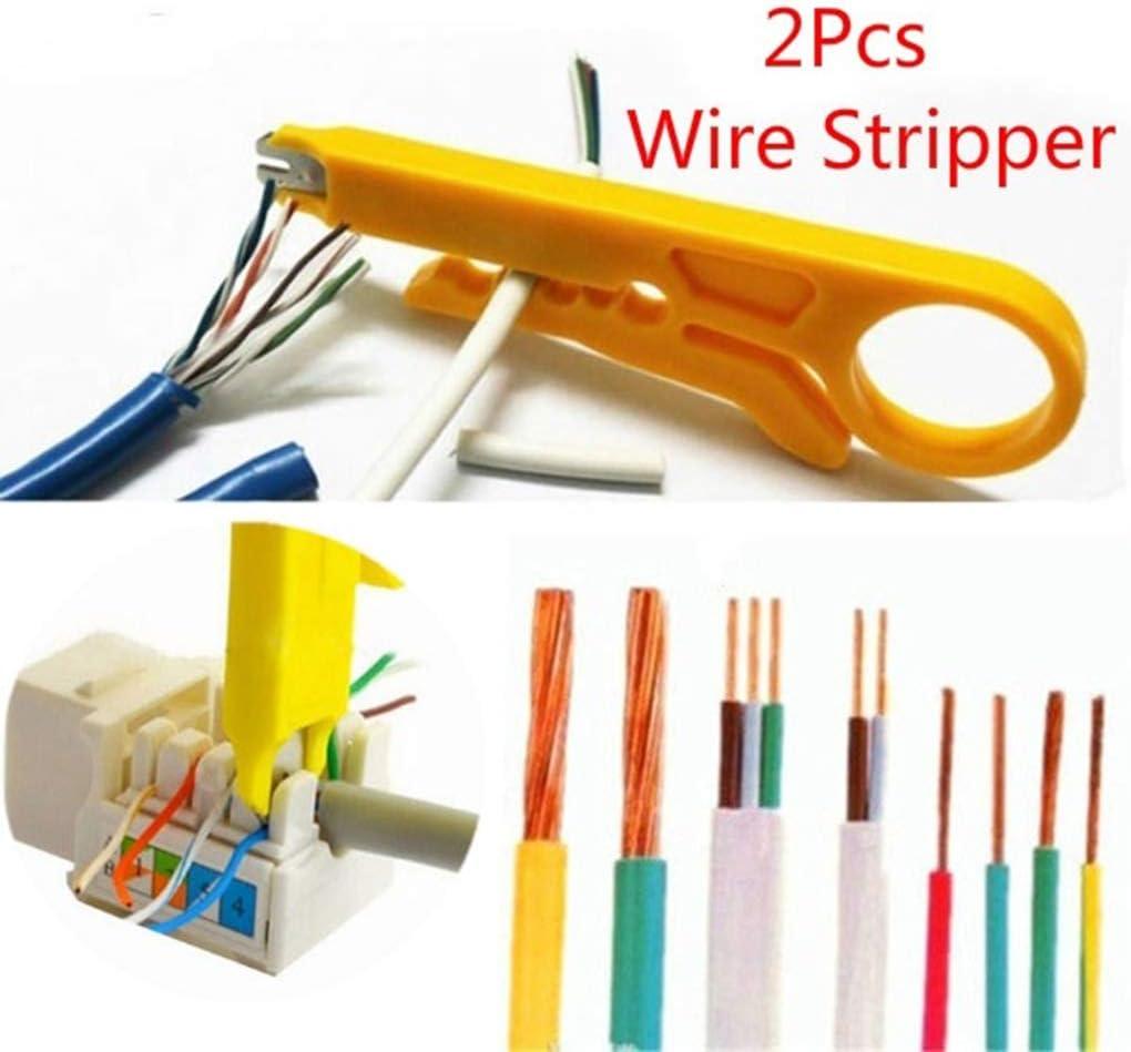 2pcs Portable /à d/énuder Pince /à sertir Pince /à sertir R/éseau t/él/éphonique d/énudage