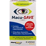 Macu-SAVE Eye Supplement for Macular Health with Meso-Zeaxanthin/Lutein and Zeaxanthin - Pack of 30 Capsules