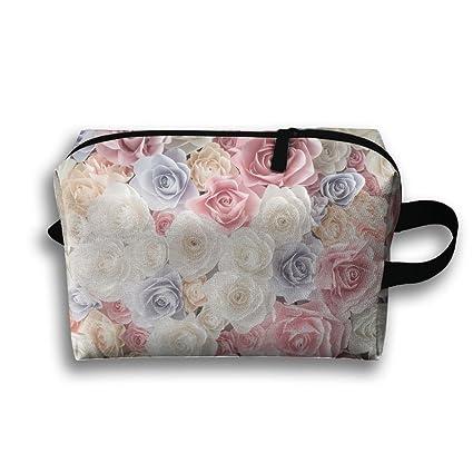 f77d5e4e Leisue Colorful Summer Rose Flowers Cosmetic Bag Zipper Makeup Accessories  Pouch Toiletries Bags Pen Pencil Power