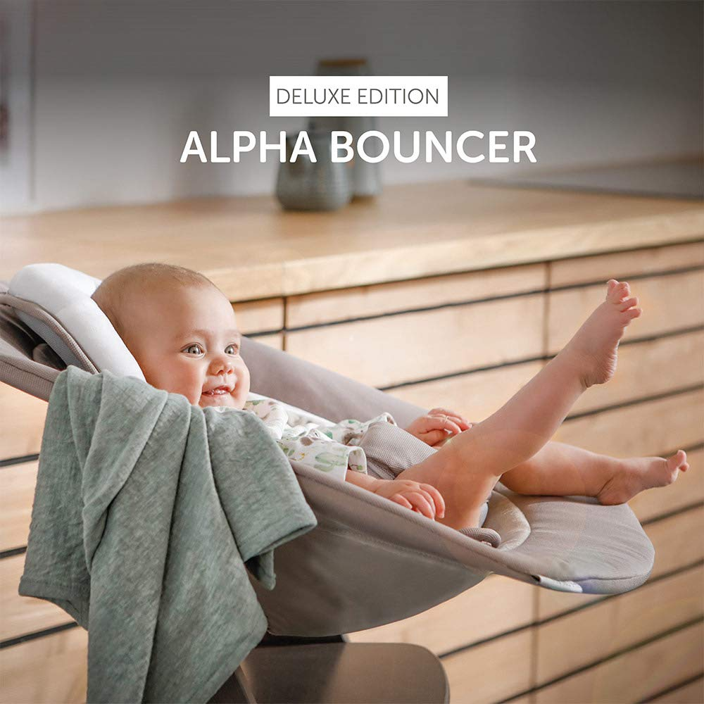 Sand R/ückenlehne verstellbar und als Babywippe nutzbar Bouncer 2in1 Deluxe Hauck Alpha /& Beta Hochstuhl Newborn Aufsatz f/ür Neugeborene ab Geburt