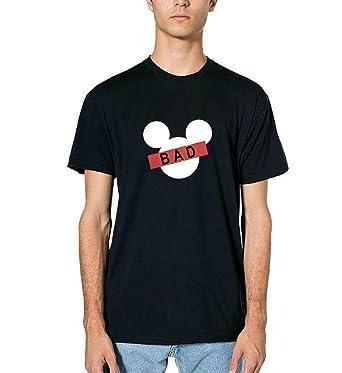 5f74f44a0 Mickey Mouse Ears Bad Thug Life Inspired by Fan Art T-Shirt T Shirt Tshirt  pour Les Hommes Homme Cadeau de Noël: Amazon.fr: Vêtements et accessoires