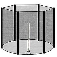 heresell Trampoline-veiligheidsnet 183/244/306/366 cm voor 6/8 stangen, zonder palen, vangnet, tuintrampoline, duurzaam…