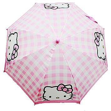 Paraguas – Hello Kitty – lluvia Plaid rosa figura mango Kids nuevo regalo juguetes hek3726