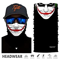 TEFITI Face Bandana Mask Elastic Tube Magic Scarf Multifunctional Headbands with UV Resistance for Men Women Suitable for Running, Riding, Climbing, Yoga,Hiking