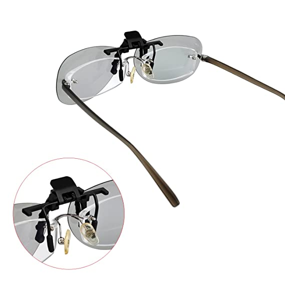 Tera Gafas 3D Clip Lentes 3D Polarizadas Pasivas para Gafas Normales de Soporte Universal: Amazon.es: Electrónica