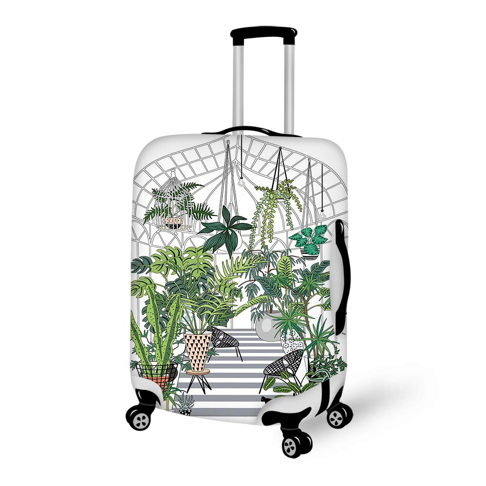 Luggage Cover Greenhouse Illustration Protective Travel Trunk Case Elastic Luggage Suitcase Protector Cover