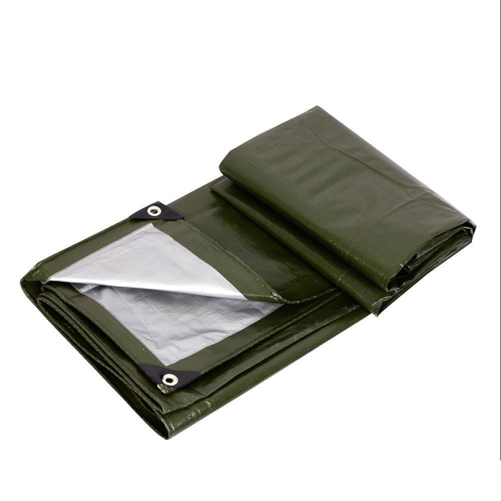 LQQGXL Armee grün Silber Plane, Outdoor-Plane Plane Plane, staubdicht, Winddicht, Frostschutzmittel, Leicht zu Falten Wasserdichte Plane