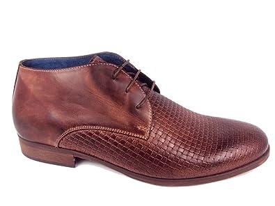 NICOLA BENSON - Zapatos de cordones de Piel para hombre marrón cuero marrón Size: 42 UdFNF