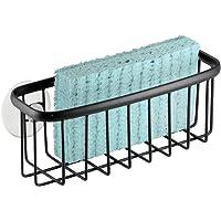 InterDesign Axis Organizador de Fregadero, portaestropajos de Metal con Recubrimiento Inoxidable para esponjas y…