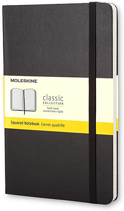 Oferta amazon: Moleskine - Cuaderno Clásico con Páginas Cuadriculada, Tapa Dura y Goma Elástica, Color Negro, Tamaño Pequeño 9 x 14 cm, 192 Páginas