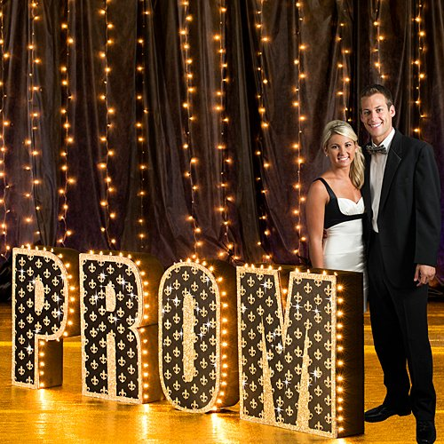 Prom Scene Setters - 2 ft. 9 in. Paris France Tres Chic Prom Letter Set Standup Photo Booth Prop Background Backdrop Party Decoration Decor Scene Setter Cardboard Cutout
