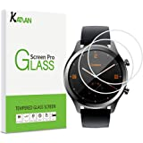 [2 Pack] KATIAN Screen Protector for TicWatch C2, HD Clear Protector [Anti-Scratch] [No-Bubble] [Case-Friendly], 9H Hardness Tempered Glass Screen Film for TicWatch C2