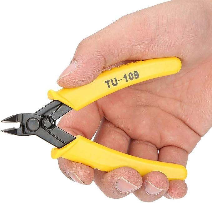 5 pulgadas TU-109 TU-109A Cortador de alambre el/éctrico Alicates de corte de alambre diagonal micro Alicates laterales para varios cables TU-109