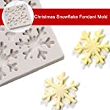 3D Christmas Theme Silicone Fondant mold