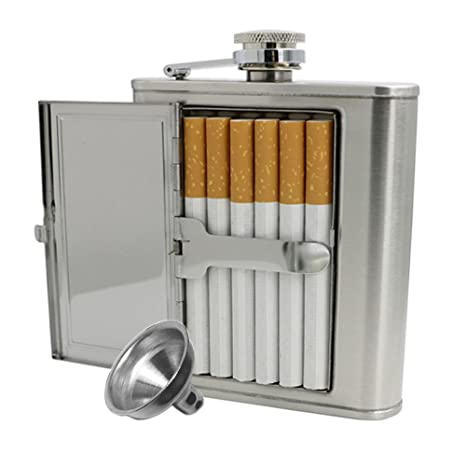 Amazon.com: JUJOR - Petaca con funda para cigarrillos, 5 ...